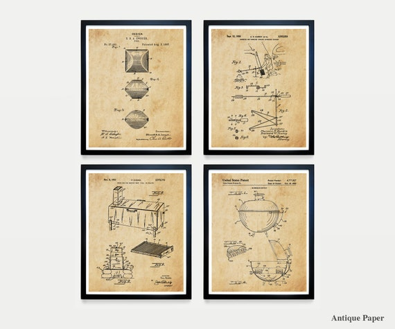 BBQ Patent Art - BBQ Wall Art - BBQ Poster - Barbecue Patent - Grill Patent - Grill Poster - Smoker - Barbecue Poster - Cooking Art - Cook