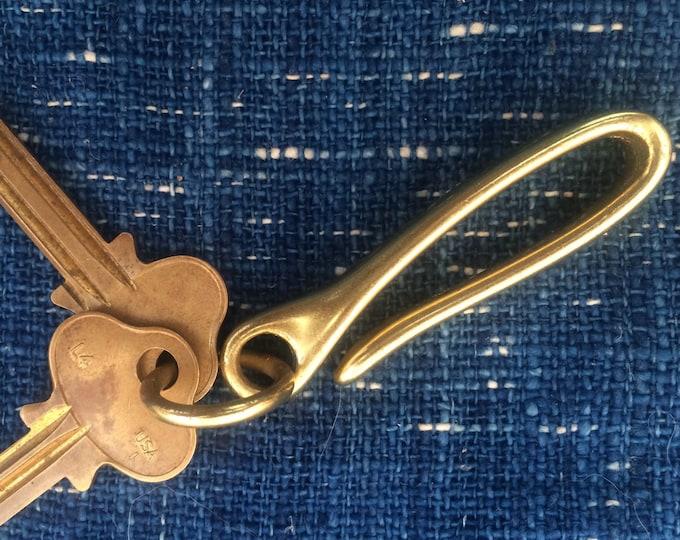 Japanese style fish hook keychain