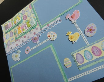 Happy Easter 12x12 Premade Scrapbook Page Scrapbook Pages Scrapbooking