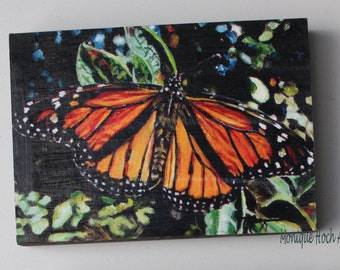 "Mounted Art Print ""Monarch"" of original oil painting by Monique Hoch"