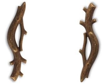 TWO Vintaj Branch Components, EM0070 - 50x12mm, Scrapbooking, Jewelry making.