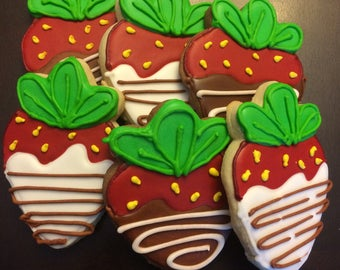 Chocolate Dipped Strawberry Cookies