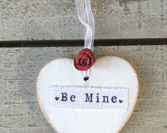 Mother'sDay Gift for Her Personalised, Wooden Heart Door Hanger, Hanging Wooden Heart Tag, Wedding Heart Decor, Unique Special Love Gift