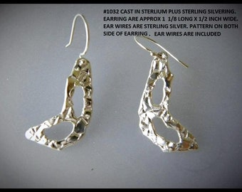 Custom designed & one of a kind earrings. The pattern is on both side so can be reversed. Cast in SS # 1032