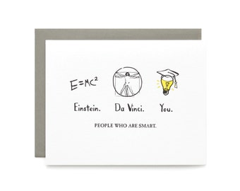 People Who are Smart- letterpress card