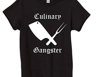 Funny Chef T-Shirts - Culinary Gangster Master Chef Tees