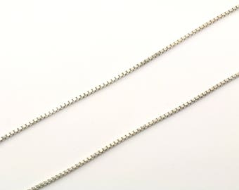 Vintage Box Chain Necklace 925 Sterling Silver NC 101