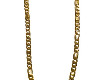 18k Gold Filled Chain Gold Chain Mens Necklace Mens Jewelry Yellow Gold Chain Mens Gold Chain Figaro Chain Thick Chain Mens Gold Necklace
