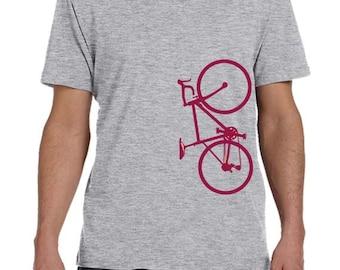 Bourgogne vélo T-shirt pour hommes, vêtements pour hommes, vêtements de vélo, bicyclette T-Shirt