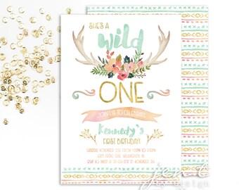 Wild One Invitation | Wild One Birthday | Tribal Invitation | Wild One | First Birthday | Boho Invitation | Boho Birthday | Boho Chic