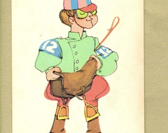 Jockey Jack Vintage Old Maid Playing Card for Collage, Scrapbooking, Paper Arts, Assemblage and MORE PSS 2237