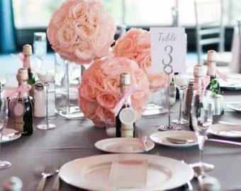 Pink Blush Flower Ball. Pink Blush WEDDING CENTERPIECE. Pink Blush Pomander. Pink Blush Kissing Ball. Pink Blush Flower Girl Bouquet.