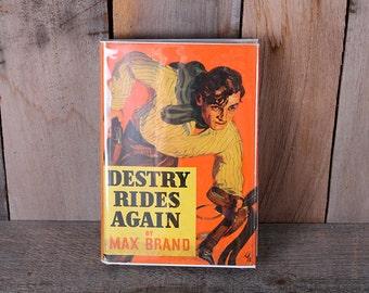 1943 Destry Rides Again Max Brand Cowboy Western Old West Adventure Pulp Novel