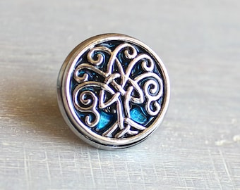 sky blue Celtic tree of life tie tack,mens jewelry, groomsmen gift, wedding jewelry, father of the bride, anniversary gift, lapel pin