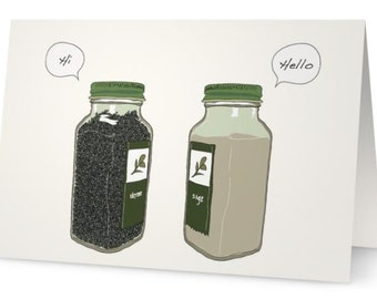 Seasonings' Greetings Card