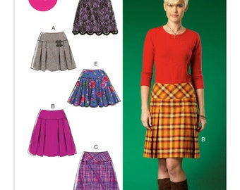 McCall's M7022 Misses' Pleated or Flared Skirts