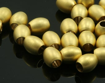 10 pcs  6 x 6,5 mm (  3 mm hole) gold plated brass round tube finding charm bab3 780