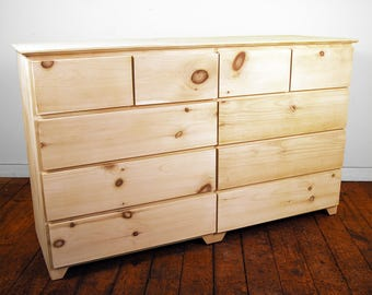 Modern 10 Drawer Finished/Unfinished Bedroom Clothing Dresser