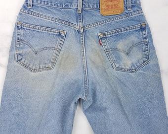 Vintage 90s Levis Medium Wash Straight Leg Blue Jeans, Mens 32x33 (Tag 34x34)