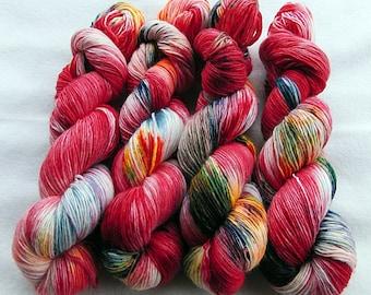 Merino SINGLE yarn, 100% Merinowool 100g 3.5 oz.Nr. 124