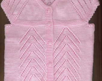 Baby Sweater, Short Sleeve Baby Sweater, Crochet Baby Vest