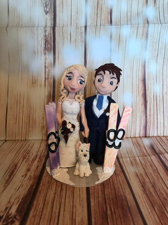 Wedding cake Topper Ski/Snowboard Fully Personalised a lovely keepsake - Bride and Groom/Same Sex/Wedding couple