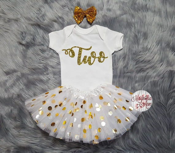 Two, 2nd Birthday Onesie, 2nd Birthday Tutu Outfit, Toddler 2nd Birthday Shirt, Toddler Birthday, 2nd Birthday Outfit Girl, 2 Year Old Bday