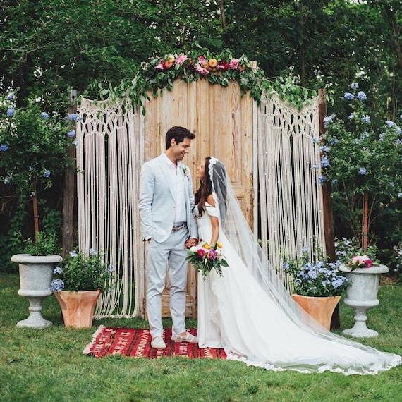Outdoor Wedding Illinois: Macrame Wedding Arch Rustic Bohemian 2018 Backdrop Custom