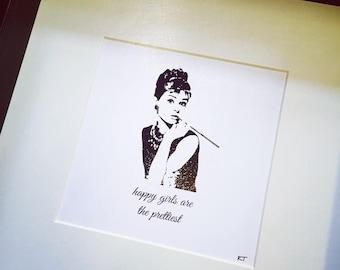 Audrey Hepburn Personalised Art Print Personalised Digital Print Wall Art, Poster Decor Audrey Hepburn Inspired Art Audrey Hepburn Gift