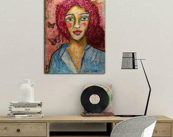 She pieced her brokenness into something beautiful - Original Painting