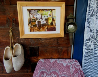 Giclée print 'On the veranda'