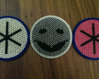 Community TV inspired Greendale Flag and Human Being Perler Coaster Set of 4