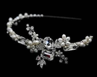 Vintage Inspired Bridal Headband Tiara