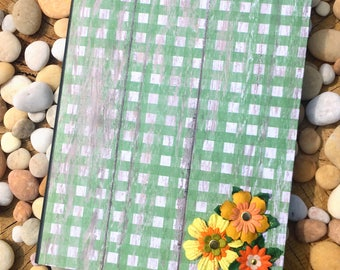 Green Floral Picnic Altered Composition Notebook