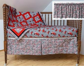 Tractor crib bedding   Etsy