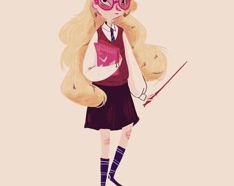 Looney Luna - Print