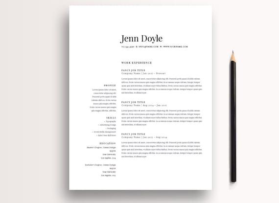 Moderne Lebenslauf Vorlage 3 Seite / CV Vorlage Anschreiben