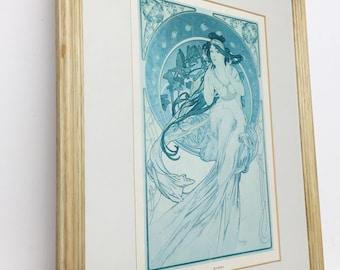 Bohemian Alphonse Mucha art print Music