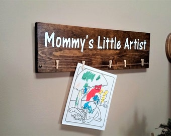 Mommy's Little Artist Wood Sign
