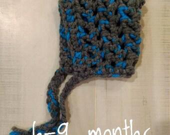 6-9 Month Crocheted Bonnet / Hat