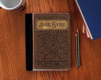 Jane Eyre First Edition Book Cover Faux Suede Notebook in 3 Sizes!