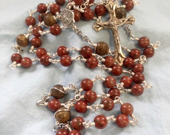 Holy Spirit Large Silver Extra Durable Wire Wrapped Rosary