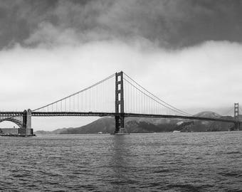 Golden Gate Bridge with Clouds
