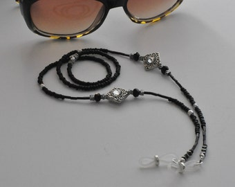 Designer Eyeglass Chain, Black Eyeglass Chain, Women's Eyeglass Chain, Sunglasses Chain, Sunglasses Leash, Accessories, For The Women