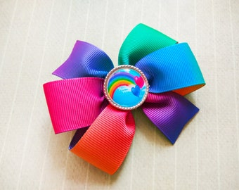 Rainbow hair bow Rainbow hair clip Multicoloured bow Rainbow bow Girl hair bow Colorful hair bow Toddler hair bow Unicorn hair bow Baby bows
