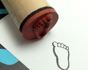 Bigfoot Rubber Stamp - Sasquatch, Yeti Footprint