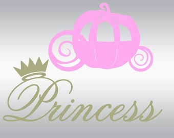 Princess Carriage svg, Princess svg, Carriage svg, Queen svg, SVG Files, Cricut, Cameo, Cut file, Files, Clipart, Svg, DXF, Png, Pdf, Eps