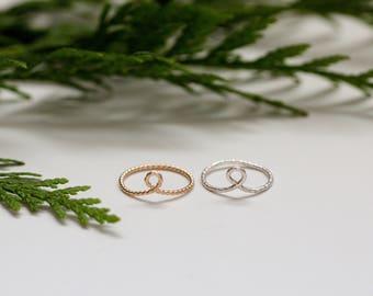 Sterling loop ring