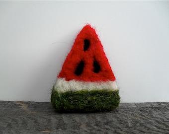 Catnip Cat toy watermelon slice, needle felted