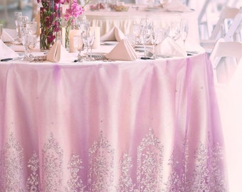 Rose Gold Sequin Table Runner Glitter Wedding Table Decor